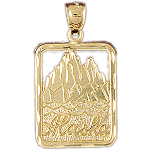 14k Yellow Gold Alaska Charm
