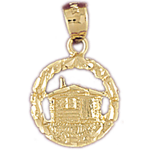 14k Yellow Gold Cottage Charm