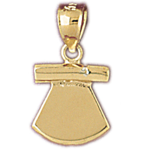 14k Yellow Gold Alaskan Fileting Charm