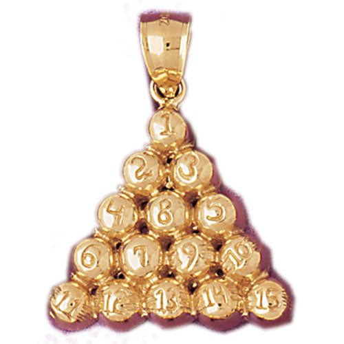 14k Yellow Gold 8 Ball Pool Charm
