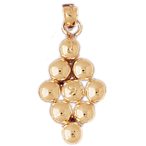 14k Yellow Gold 9 Ball Pool Charm