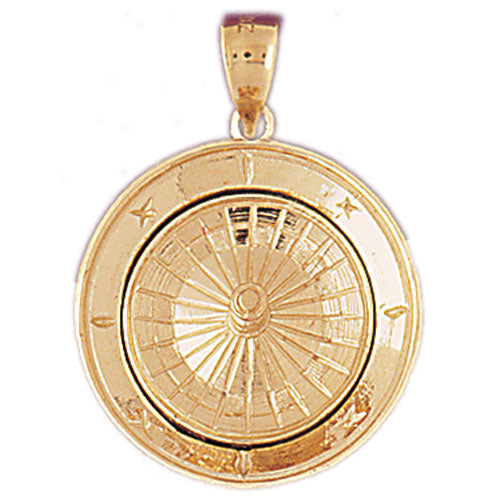 14k Yellow Gold Roulette Charm