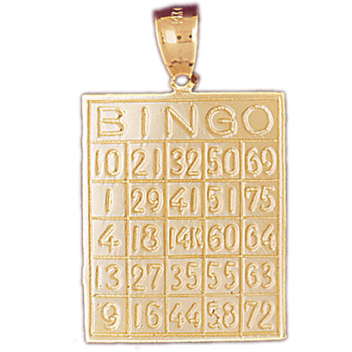 14k Yellow Gold Bingo Charm