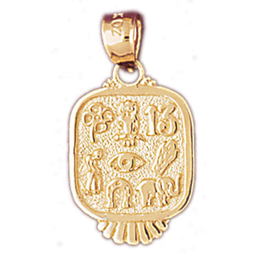 14k Yellow Gold Good Luck Charms Charm
