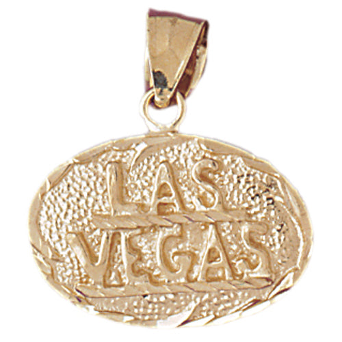 14k Yellow Gold Las Vegas Charm