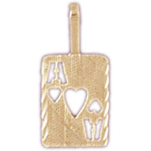 14k Yellow Gold Playing Cards, Ace of Hearts Charm