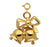 14k Yellow Gold Christmas Bell Charm