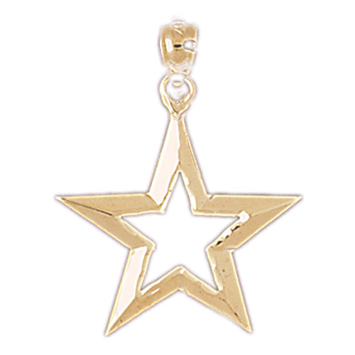 14k Yellow Gold Star Charm