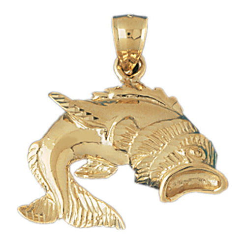 14k Yellow Gold Goldfish Charm