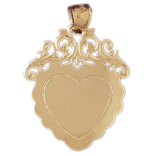 14k Yellow Gold Handcut Engraveable Plate Charm