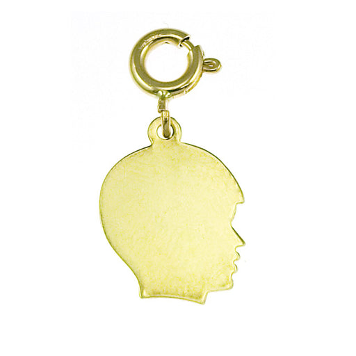 14k Yellow Gold Small Boy Silhoutte Charm