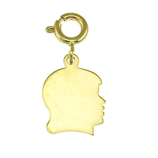 14k Yellow Gold Small Girl Sillhoutte Charm