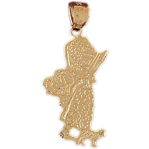 14k Yellow Gold Baby Girl with Bonnet Charm