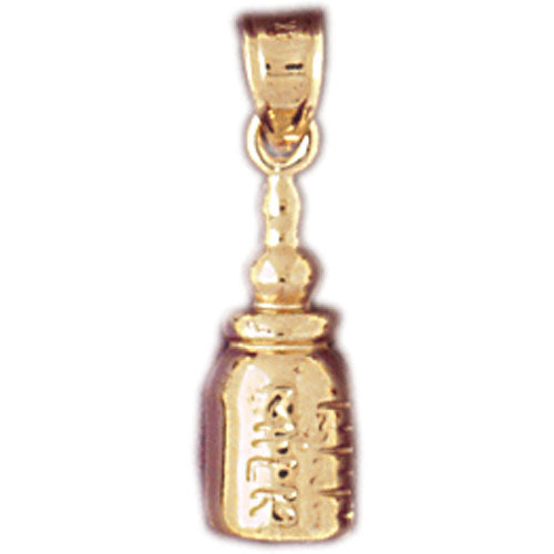 14k Yellow Gold Baby Bottle Charm