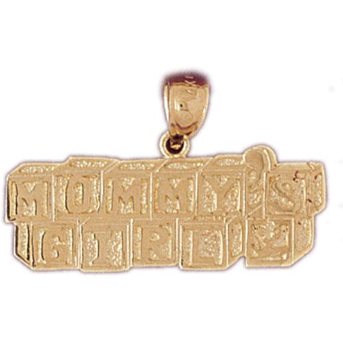 14k Yellow Gold Mommy's Girl Charm