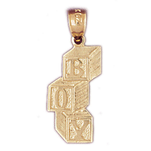 14k Yellow Gold Boy Charm