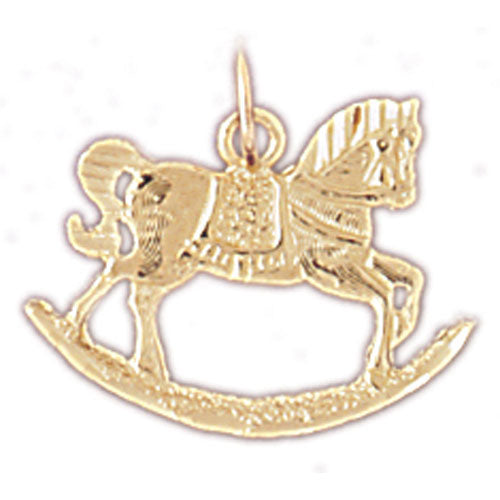 14k Yellow Gold Rocking Horse Charm