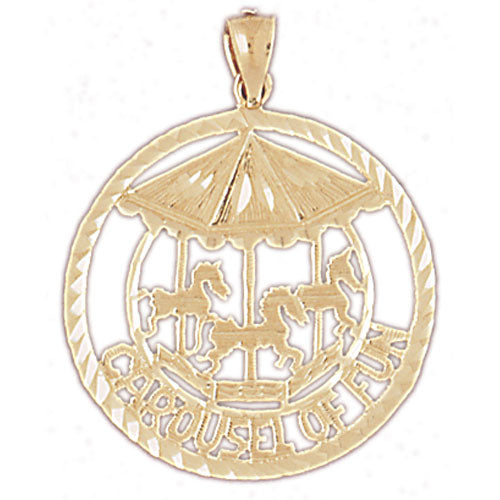 14k Yellow Gold Carousel of Fun Charm