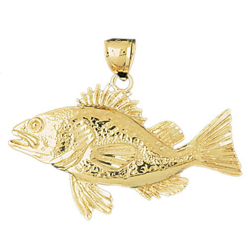 14k Yellow Gold Bass Charm