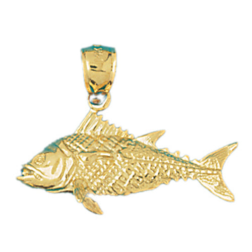 14k Yellow Gold Bass 3-D Charm