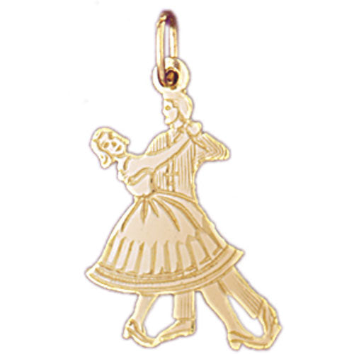 14k Yellow Gold Ballroom Dancer Charm