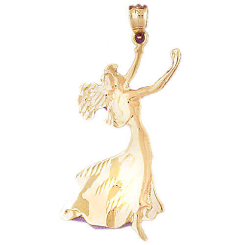 14k Yellow Gold Dancer Charm