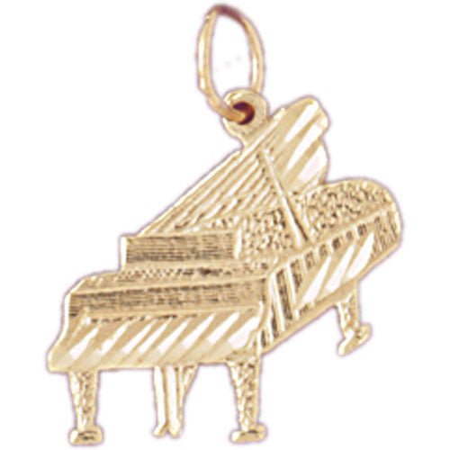 14k Yellow Gold Piano Charm