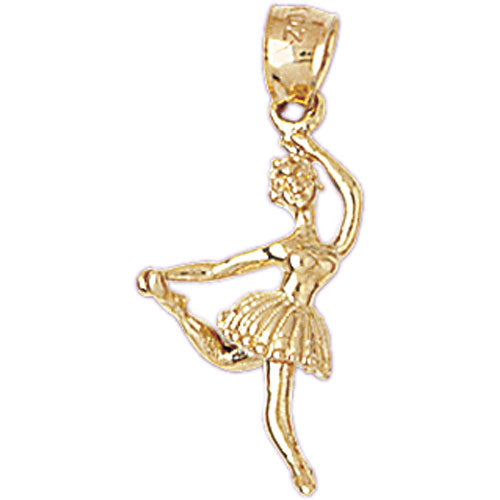 14k Gold Two Tone Ballerina Charm