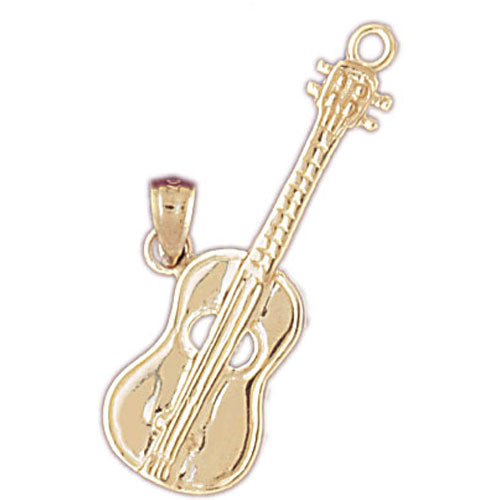 14k Yellow Gold Accoustic Guitar Charm