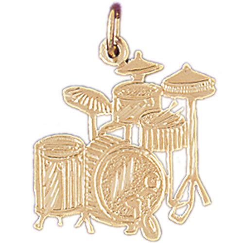 14k Yellow Gold Drums Charm