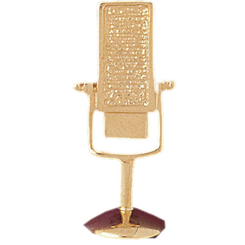 14k Yellow Gold Microphone Charm