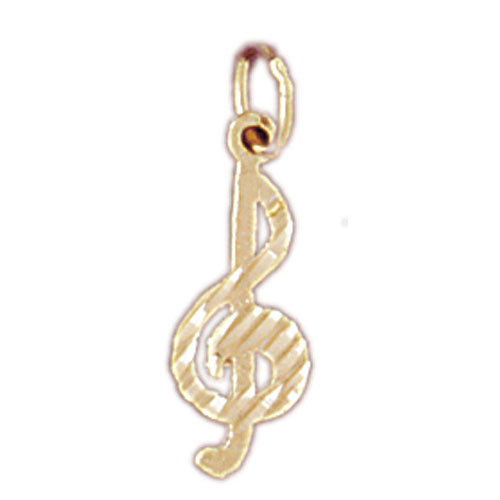 14k Yellow Gold Treble Clef Charm