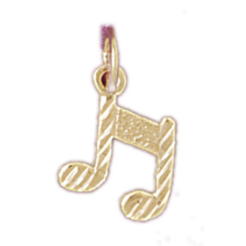 14k Yellow Gold Eighth Note Charm
