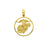 14k Yellow Gold Marines Charm