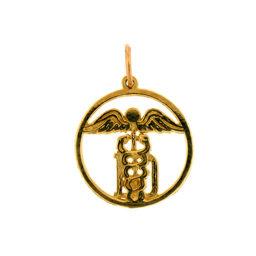 14k Yellow Gold MD, Caddeusus Charm