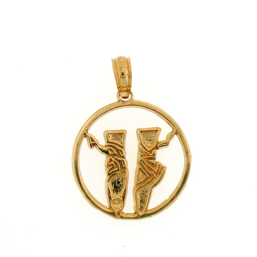 14k Yellow Gold Balerina Shoes Charm