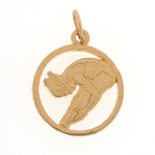 14k Yellow Gold Gymnist Charm