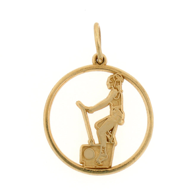 14k Yellow Gold Excersize Bike Charm