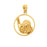 14k Yellow Gold Bowling Ball and Pins Charm