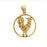 14k Yellow Gold Rooster Charm