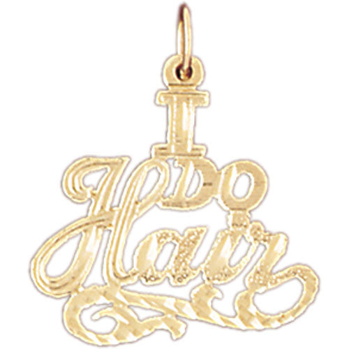 "14k Yellow Gold ""I Do Hair"" Charm"