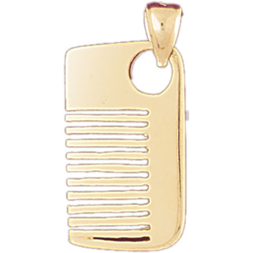 14k Yellow Gold 3-D Comb Charm