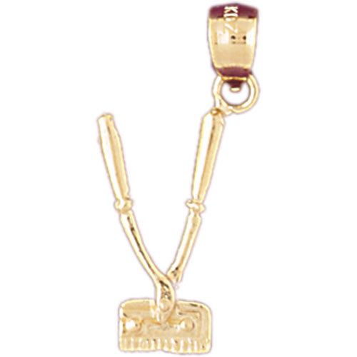 14k Yellow Gold 3-D, Moveable Charm