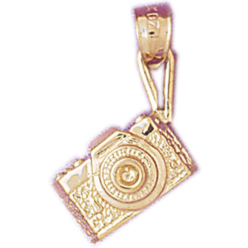 14k Yellow Gold 3-D Microscope Charm