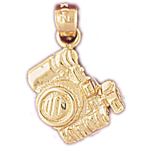 14k Yellow Gold 3-D Camera Charm