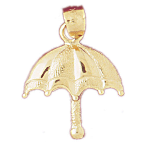14k Yellow Gold Umbrella Charm