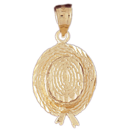 14k Yellow Gold 3-D Hat Charm