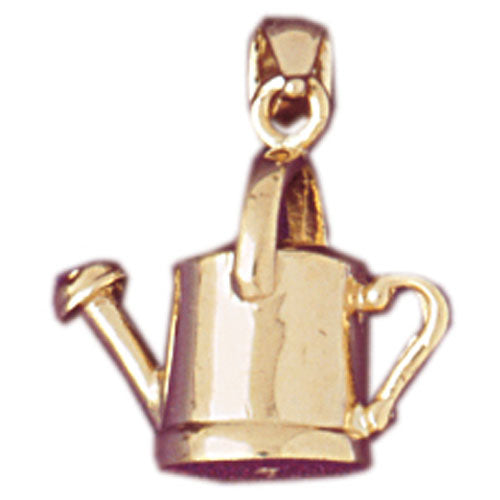 14k Yellow Gold 3-D Watering Can Charm