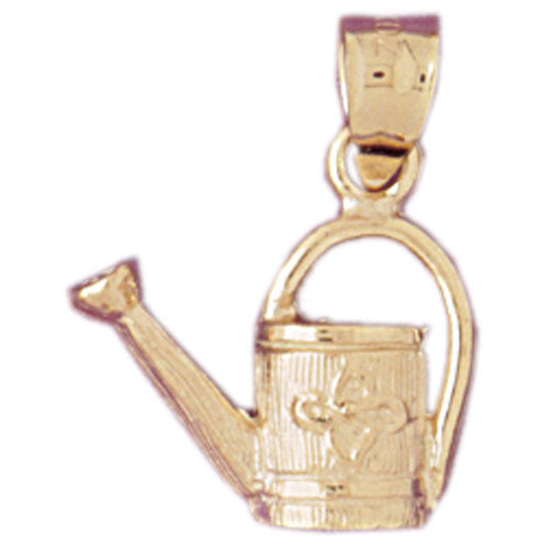 14k Yellow Gold Watering Can Charm