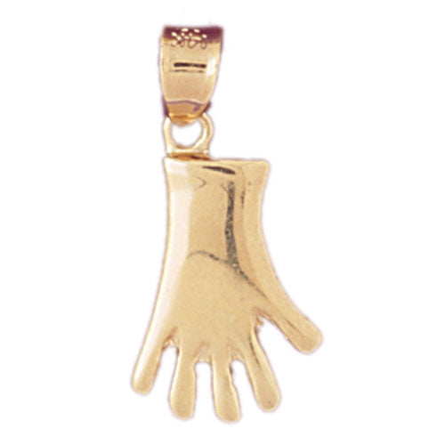 14k Yellow Gold Gloves Charm